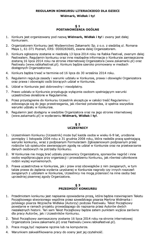 Regulamin cz. 1