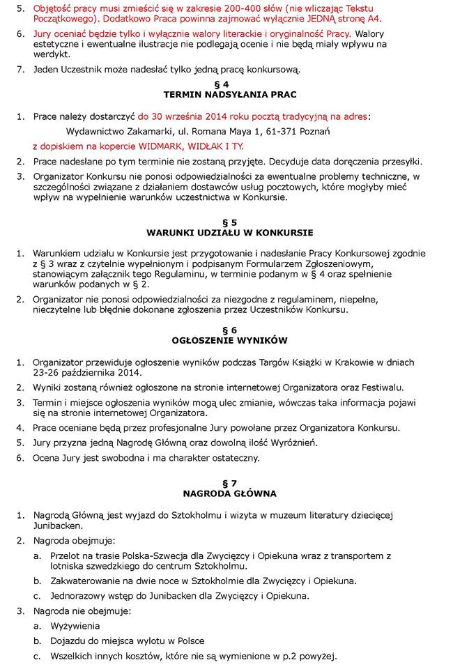 Regulamin cz. 2