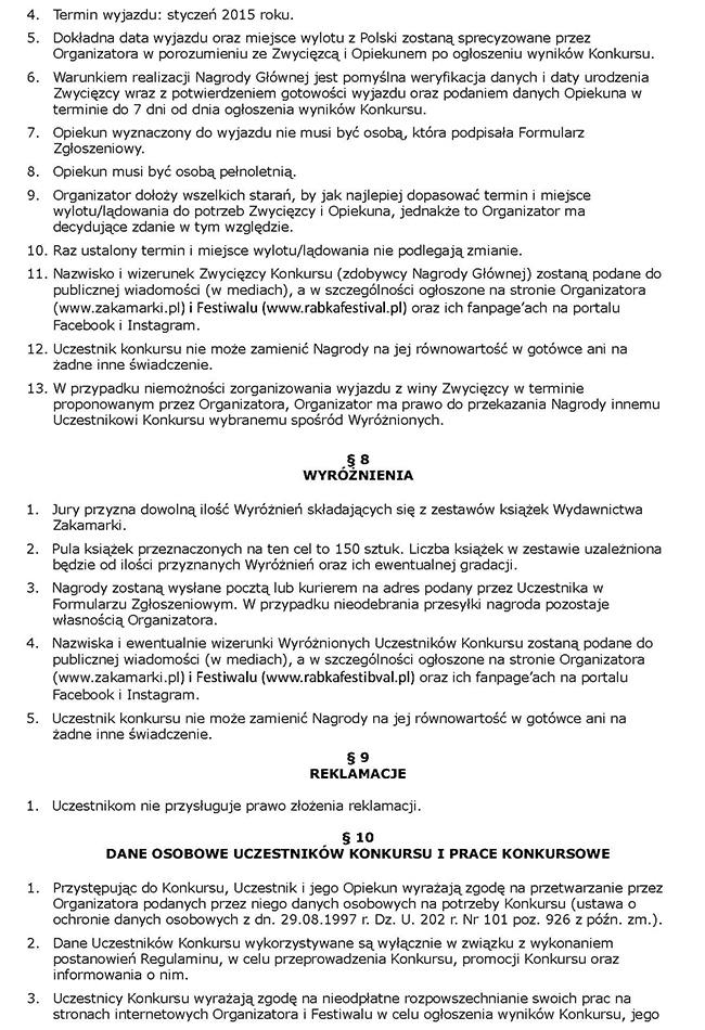 Regulamin cz. 3